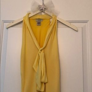 Caché yellow blouse